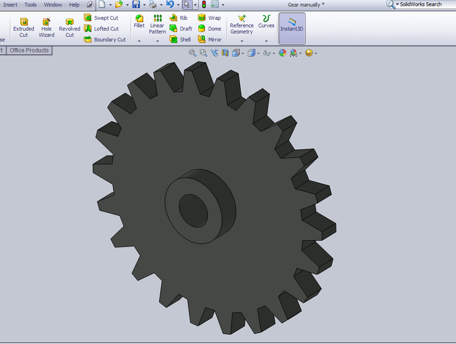 Design Spur Gear in Solidworks Manually – Solidworks Tutorial