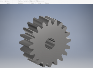 Create spur gear in autodesk inventor